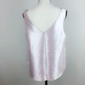 Asos metallic pink blouse sleeveless size 12